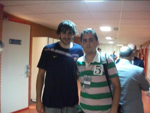 Con Ricky Rubio (Unicaja - Regal FCB)