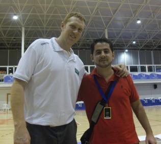 Con Brian Scalabrine (Trofeo Costa del Sol)