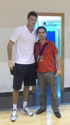 Con Danilo Gallinari (Trofeo Costa del Sol)