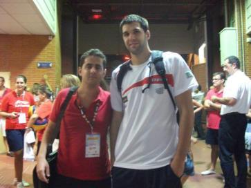 Con Felipe Reyes (amistoso España-Eslovenia)