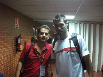 Con Fernando San Emeterio (amistoso España-Eslovenia)
