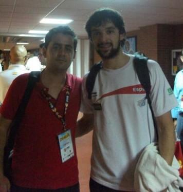 Con Sergio Llull (amistoso España-Eslovenia)