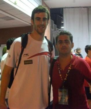 Con Víctor Claver (amistoso España-Eslovenia)