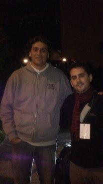 Con Marcelo Nicola (tras el Unicaja-Murcia)