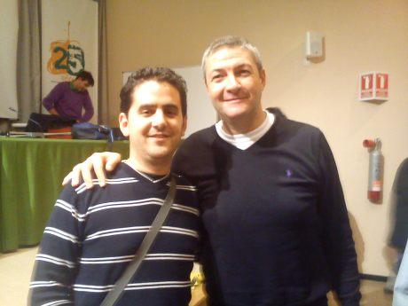Con Luigi Lamonica (Clínic en Málaga)