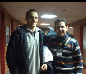 Con Igor Rakocevic (Unicaja-Montepaschi)