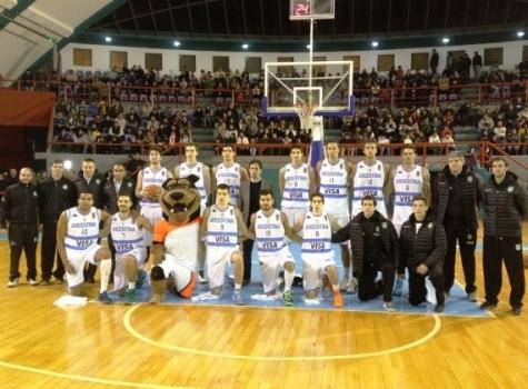 Argentina, en el amistoso a Uruguay (Foto: CABB.com.ar)